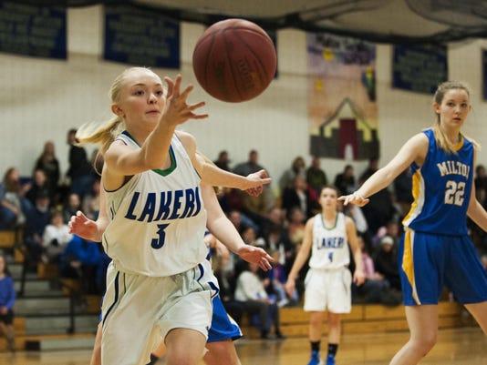 Milton vs. Colchester Girls Basketball 01/22/16