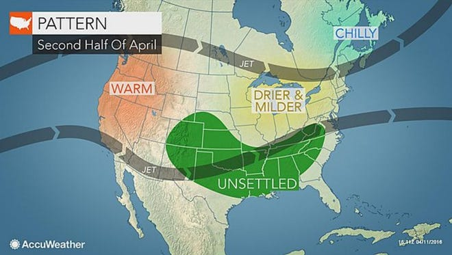 The rest of the week should be mild and dry, according to Accuweather forecasts.
