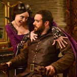 Mallory Jansen and Joshua Sasse in the ABC comedy 'Galavant.'