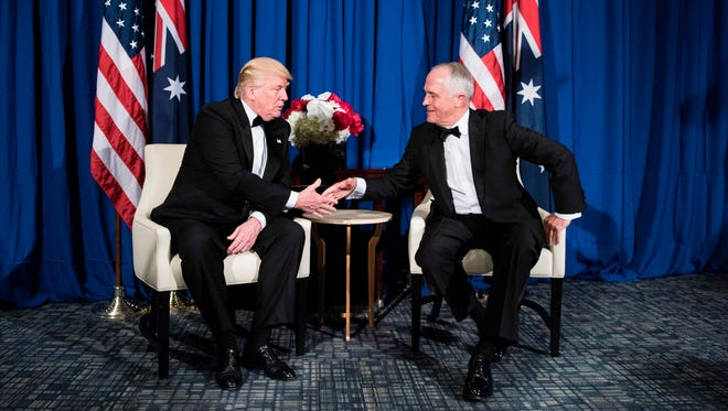 President Trump and Australian Prime Minister Malcolm Turnbull in New York on May 4, 2017.