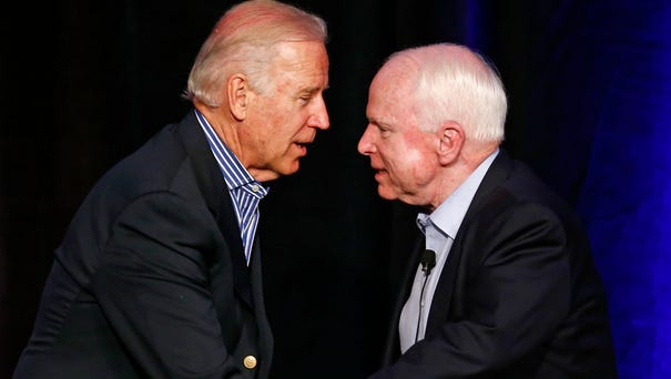 Vice President Joe Biden and Senator John McCain,...
