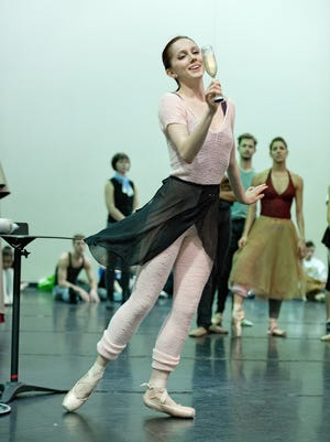 "Abigail Morwood dances in rehearsal for this year's Cincinnati Ballet production of ""The Nutcracker."" Now a member of the corps de ballet, she hopes her appearance as the Sugar Plum Fairy helps her secure a promotion."