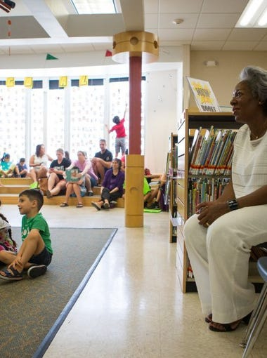 COURTNEY SACCO/CALLER-TIMES Newly appointed City Manager Margie Rose attends Dr. Clotilde P. Garcia Public Library's summer reading wrap-up Friday. Rose has said she considers engaging with residents as one of her strengths.