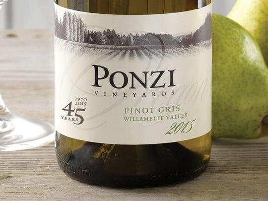 Ponzi Vineyards Pinot Gris 2015