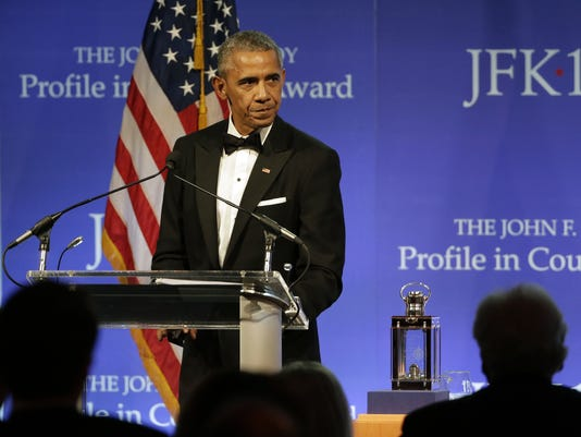 AP OBAMA PROFILE IN COURAGE AWARD A USA MA