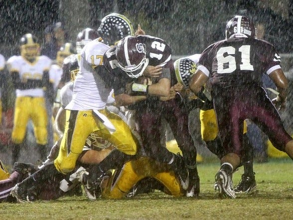 Murphy and Swain County played in a downpour back in 2011.