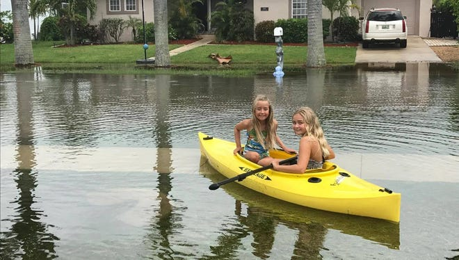 Jori Richardson shared this photo of her daughters in a kayak in Marco Island on Tuesday, June 7, 2017.