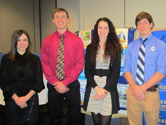 February students are, from left: Allyson Duffy, Fond