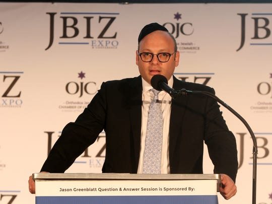 Duvi Honig, CEO of Orthodox Jewish Chamber of Commerce, speaks during JBIZ Expo and Conference at the New Jersey Convention and Exposition Center in Edison, NJ Wednesday June 1, 2016.