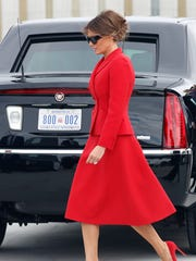 First lady Melania Trump, with the help of Herve Pierre