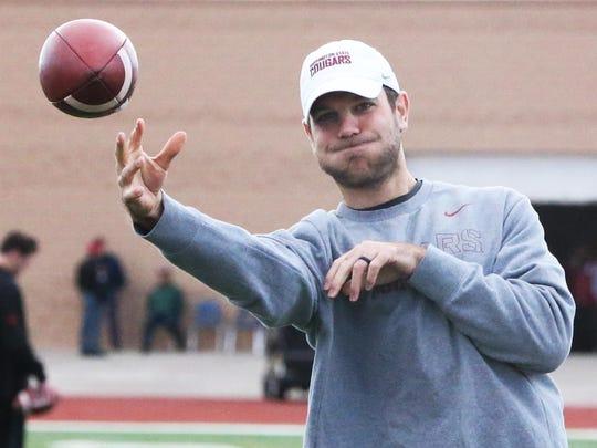 FILE PHOTO - Former Texas Tech quarterback Graham Harrell was a wide receivers coach for Washington State.