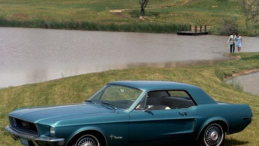 More than 50 old and new Mustangs, Cobras and Shelbys will be on display at Tranquility Farm in Chester from 11 a.m. to 1 p.m. on Sunday.