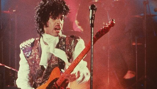 Prince performs in his debut movie 'Purple Rain,' the 1984 rock opera about a young man's search for artistic accomplishment and love.