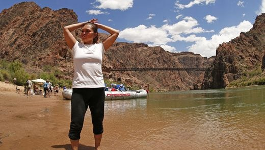 Gabriela Orpinel, after descending to the Colorado River.