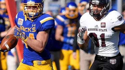 Brady Mengarelli rushed for 89 yards and 2 TDs in Saturday's win over Missouri State