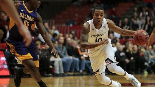 Troy Caupain is closing in on 1,000 points for his University of Cincinnati basketball career.