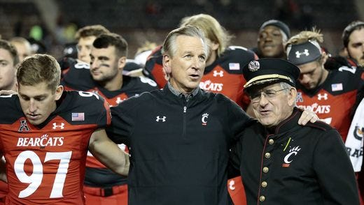 University of Cincinnati coach Tommy Tuberville saw his team finish 4-8, the program's worst record since also going 4-8 in 2010.