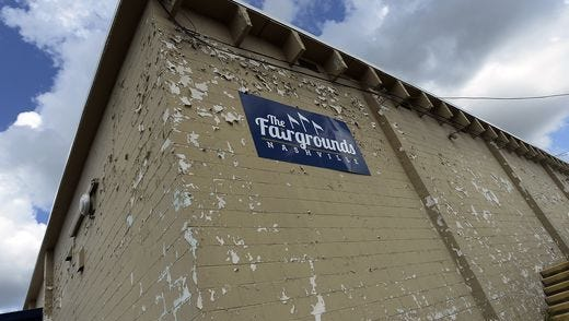 Mayor Megan Barry is proposing the demolition of multiple buildings at The Fairgrounds Nashville that have fallen into disrepair as part of plans to rehab the fairgrounds.