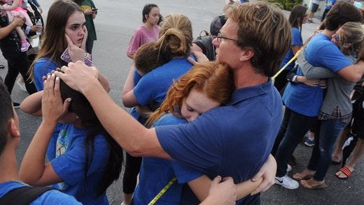 Students from St. Andrews Episcopal Church and school in Boca Raton were going on a missions trip to Fiji when a shooting took place Friday, Jan. 6, 2017, at the Fort Lauderdale-Hollywood International Airport.