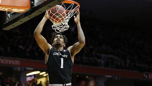 Sophomore wing Jacob Evans leads a balanced University of Cincinnati offense with 14.5 points per game.