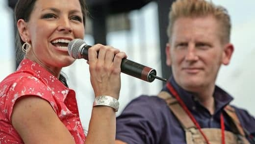 Joey + Rory perform for fans during the CMA Music Festival at Nashville's Riverfront Park on June 14, 2009.