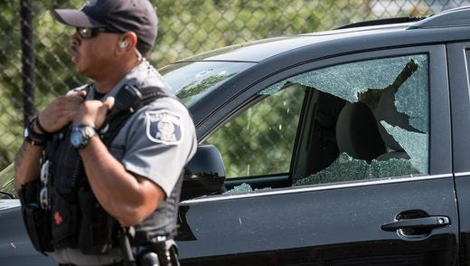 The baseball park where Congressional Republican baseball practice was the scene of a shooting in Alexandria, Va is now on lockdown.