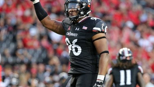 Defensive tackle Cortez Broughton will be one of the anchors for the 2018 University of Cincinnati football team.