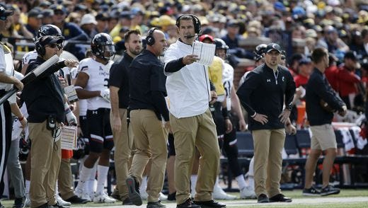 After losing to Michigan amid a sea of Maize and Blue-clad fans, coach Luke Fickell and the Cincinnati Bearcats will visit rival Miami University on Saturday.