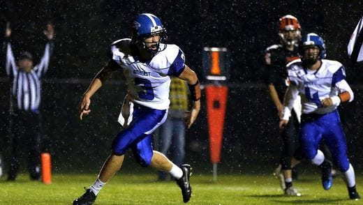 Amherst clinched a share of the Central Wisconsin Conference-Large Division title with a win over Iola-Scandinavia last Friday. The Falcons are ranked No. 2 in the Medium Division of the latest Associated Press state prep football poll.