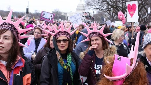 Marchers from Westchester County attend the Women's March on Washington D.C.