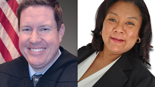Candidates for Circuit Judge, Group 27, are Bryan Rendzio and Alicia Washington.