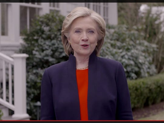 Framegrab from Hillary Clinton campaign video released