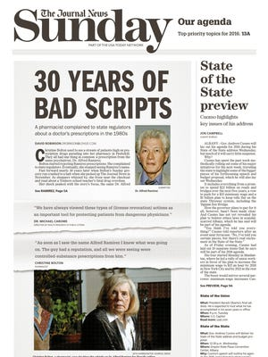 The front page of The Journal News on Sunday, Jan. 10, 2016 features this investigation.
