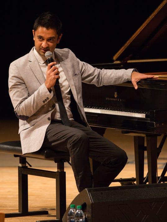Vijay Iver at the piano