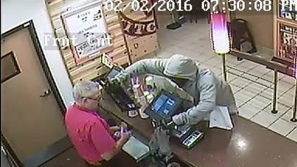 Fort Myers police are seeking a man they say robbed a Popeyes on Fowler Street.