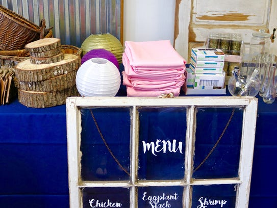 Gently used linens, vases and baskets are just a few