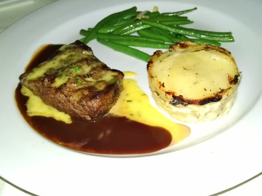Grilled flat iron steak.