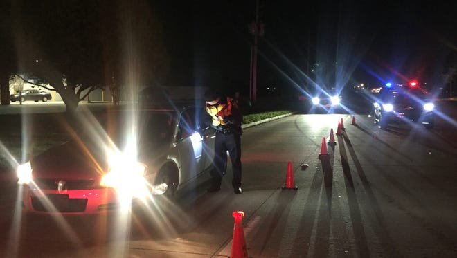 FILE PHOTO: Bossier Sheriff's Office deputies conduct a sobriety checkpoint.