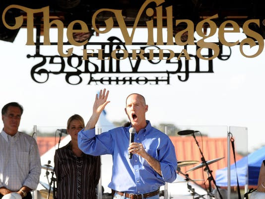 Mitt Romney Campaigns With Florida GOP Gubernatorial Candidate Rick Scott