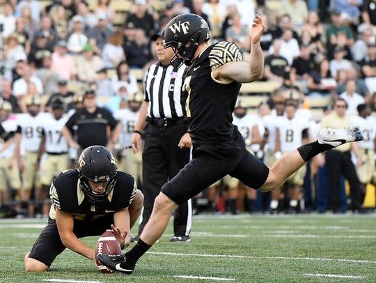 Southside graduate Mike Weaver kicks a 37-yard field