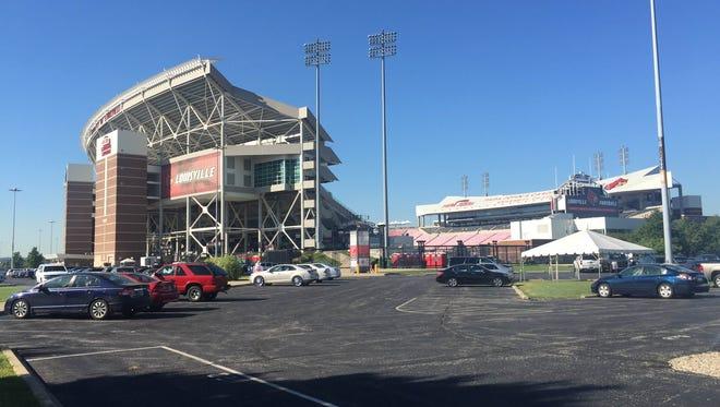 A view of the northeast corner of Papa John's Cardinal Stadium. Sept. 13, 2016