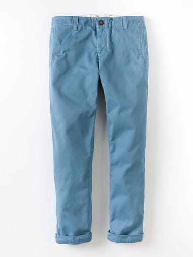 It's finally (nearly) time to ditch the down-filled, dour duds and layer on a lightweight, lighthearted wardrobe. USA TODAY's Olivia Barker spotlights spiffy spring styles for the Y-chromosome set. Vintage slim fit chinos, $74 at BodenUSA.com