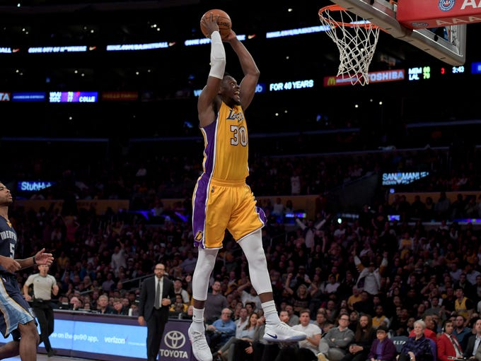 Jan. 3: Lakers forward Julius Randle throws down on