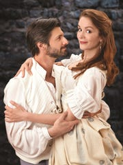 Mitchell A. Koory and Anne Marie Damman in Shakespeare