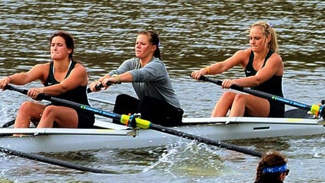 Michigan State University walk-on rower Joanna Beaton (far right), a 2011 Novi High grad, has earned a spot on the first varsity eight boat.