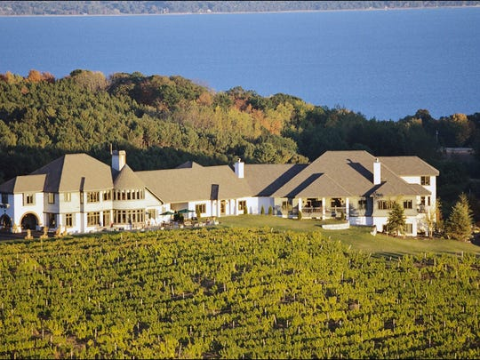Chateau Chantal sits on a 65-acre estate near Traverse City.
