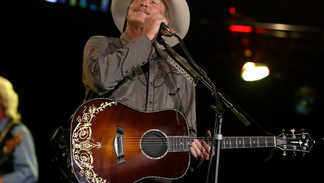 Country singer Alan Jackson performs in 2017 at the Resch Center. His return visit on Saturday night has been canceled.