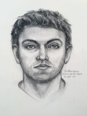The SDSU Police Department released a composite sketch of the suspect.