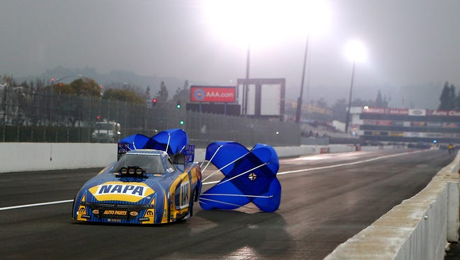 Feb 10, 2017: NHRA funny car driver Ron Capps during qualifying for the Winternationals at Auto Club Raceway at Pomona.