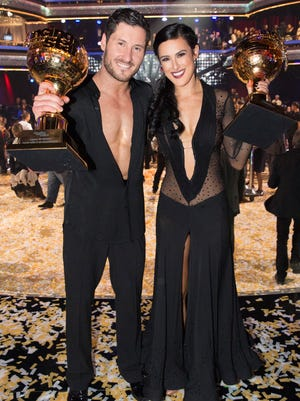 Rumer Willis and Val Chmerkovskiy were crowned the 10th Anniversary Season Champions and winners of the Gold Mirrorball trophy, on the season finale of 'Dancing With the Stars.'